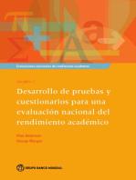 Evaluaciones nacionales del rendimiento académico Volumen 2: Desarrollo de pruebas y cuestionarios para una evaluación nacional del rendimiento académico