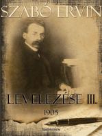 Szabó Ervin levelezése III. kötet