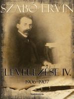 Szabó Ervin levelezése IV. kötet