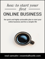 How to Start Your First Online Business
