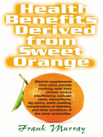 Health Benefits Derived from Sweet Orange