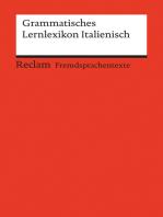 Grammatisches Lernlexikon Italienisch