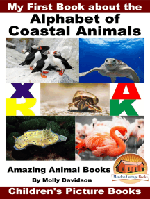 My First Book about the Alphabet of Coastal Animals: Amazing Animal Books - Children's Picture Books