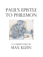 Paul's Epistle to Philemon, A Commentary by Max Klein
