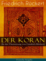 Der Koran (In der Übersetzung von Friedrich Rückert) - Deutsche Ausgabe