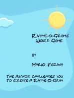 Rhyme-O-Grams Word Game