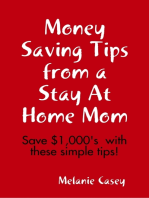 Money Saving Tips from a Stay At Home Mom
