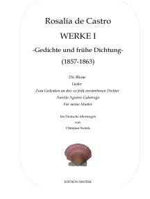 Werke I: Gedichte und frühe Dichtung 1857-1863