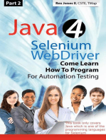 (Part 2) Java 4 Selenium WebDriver