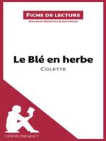 Le Blé en herbe de Colette