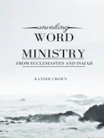 Unveiling Word Ministry From Ecclesiastes and Isaiah