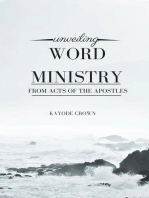 Unveiling Word Ministry From Acts of the Apostles