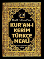 Kuranı Kerim Türkçe Meali: Elmalılı M. Hamdi Yazır