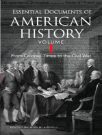 Essential Documents of American History, Volume I