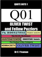 Oliver Twist and Fellow Puzzlers (Quote-Outs 1)