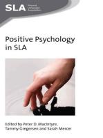 Positive Psychology in SLA
