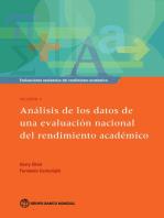Evaluaciones nacionales del rendimiento académico Volumen 4: Análisis de los datos de una evaluación nacional del rendimiento académico