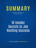 10 Insider Secrets to Job Hunting Success (Review and Analysis of Bermont's Book)
