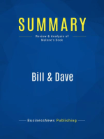 Bill & Dave (Review and Analysis of Malone's Book)