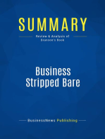 Business Stripped Bare (Review and Analysis of Branson's Book)