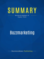 Buzzmarketing (Review and Analysis of Hughes' Book)