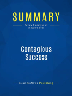 Contagious Success (Review and Analysis of Annuzio's Book)