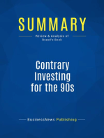 Contrary Investing for the 90s (Review and Analysis of Brand's Book)