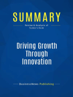 Driving Growth Through Innovation (Review and Analysis of Tucker's Book)