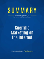 Guerrilla Marketing on the Internet (Review and Analysis of Levinson and Rubin's Book)