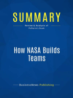 How NASA Builds Teams (Review and Analysis of Pellerin's Book)