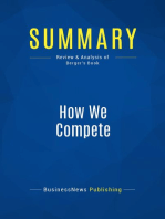 How We Compete (Review and Analysis of Berger's Book)