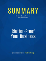 Clutter-Proof Your Business (Review and Analysis of Nelson's Book)