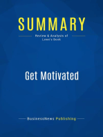 Get Motivated (Review and Analysis of Lowe's Book)