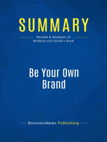 Be Your Own Brand (Review and Analysis of McNally and Speak's Book)
