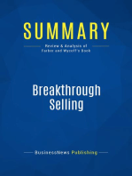 Breakthrough Selling (Review and Analysis of Farber and Wycoff's Book)
