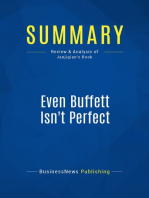 Even Buffett Isn't Perfect (Review and Analysis of Janjigian's Book)