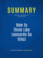 How to Think Like Leonardo Da Vinci (Review and Analysis of Gelb's Book)