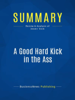 A Good Hard Kick in the Ass (Review and Analysis of Adams' Book)