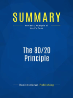 The 80/20 Principle (Review and Analysis of Koch's Book)