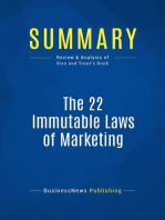 The 22 Immutable Laws of Marketing (Review and Analysis of Ries and Trout's Book)