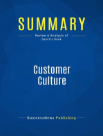 Customer Culture (Review and Analysis of Basch's Book)