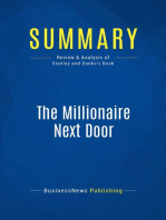 The Millionaire Next Door (Review and Analysis of Stanley and Danko's Book)