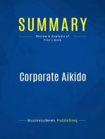 Corporate Aikido (Review and Analysis of Pino's Book)