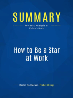 How to Be a Star at Work (Review and Analysis of Kelley's Book)