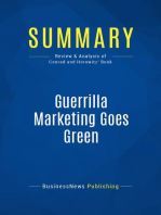 Guerrilla Marketing Goes Green (Review and Analysis of Conrad and Horowitz' Book)