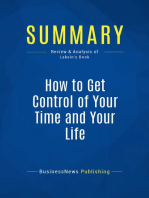 How to Get Control of Your Time and Your Life (Review and Analysis of Lakein's Book)