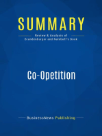 Co-Opetition (Review and Analysis of Brandenburger and Nalebuff's Book)
