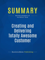 Creating and Delivering Totally Awesome Customer Experiences (Review and Analysis of the Millets' Book)