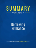 Borrowing Brilliance (Review and Analysis of Murray's Book)