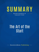 The Art of the Start (Review and Analysis of Kawasaki's Book)